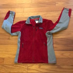 COPY - Patagonia Red/Gray Sweater Jacket